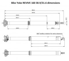 BIKEYOKE REVIVE 160 31.6mm Triggy páčka